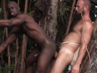 busty ebony gay man had his bottom fucked into