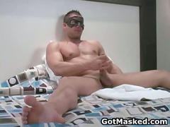 super pretty looking gay hunk pushing dildo