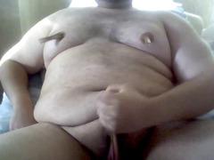 chub heavy guy nipple joy masturbation