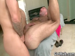 muscled hunk with tattoos drilling gay porno