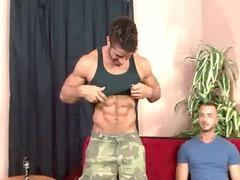 str8 muscle stud obtains start inside gay porn.