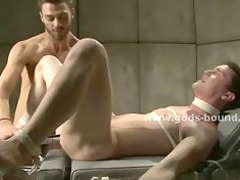 gay male into straitjacket made to drill into