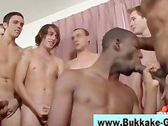 bukkake cock licking gay takes awesome