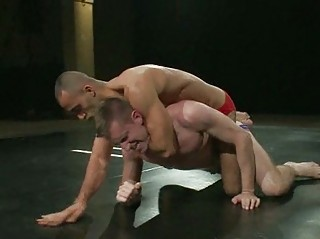 filthy gay dudes into horny wrestling match
