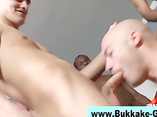 hungry amateur gay own bukkake