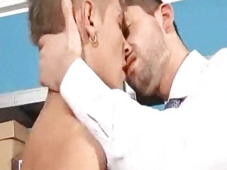 slutty doing job class gay fellow licks his