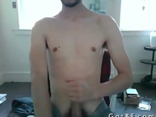 bearded twink makes himself white cream part2
