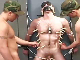 two army hunks torturing and abusing their gay