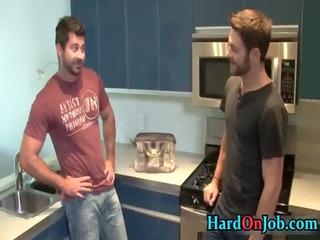 hirsute blumber acquires his dick sucked gay fuck