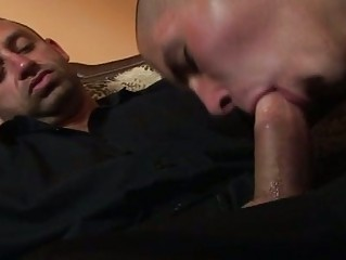 bald gay licking libido of smoking male
