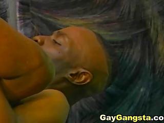 ebony gay likes tough ass gangbanging