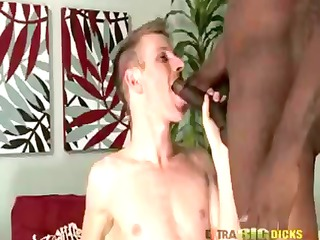 two mixed gay boys lick some cock before plugging