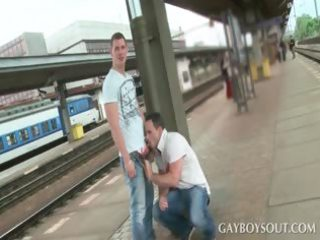 outside gay dick sucking with two hot guys