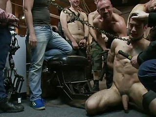 tattooed gay stud takes difficult on being tied