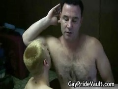 uneasy gay bear piercing and licking gay porn