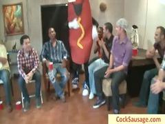 large wiener takes his penis sucked by 20 guys