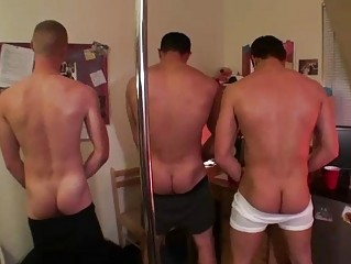 triple rough anal gay studs having three people