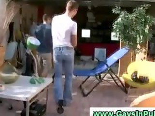 twinks obtain horny at garage sale