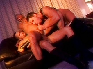 amazing leather gays having an group sex