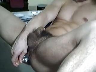 hot looking gay stud fist his bushy butt