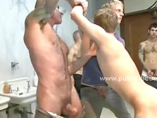 young gay male masturbates bunch  of boys after