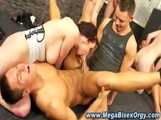 bi adoring group sex group banging and licking