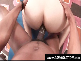 ashen gay twink gets his bottom fucked from