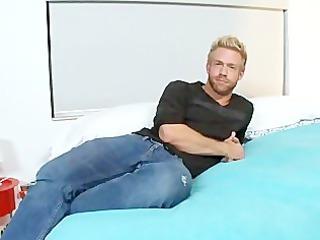 blonde gay touching a gigantic black cock