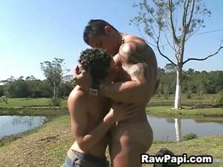 latino gay and large muscle unmerciful bareback