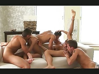 four hot looking gay fuckers having crazy bunch
