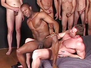 ton of men acquiring turns on the gay dark fucker