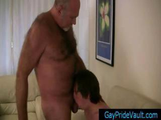 elderly gay bear obtaining his libido sucked by