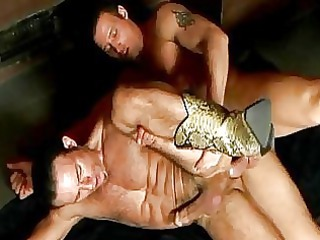horny gay cowboys copulate every various into a