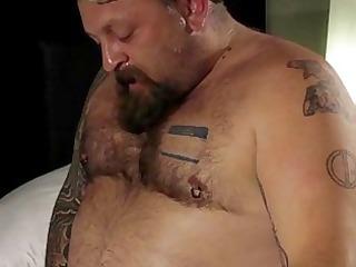 Mature Tattooed Bears Suck Rimm