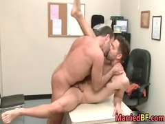 tattooed straight hunk acquires anal gang-banged