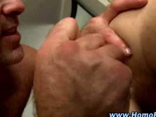 gay pleases straight anal with plastic cock