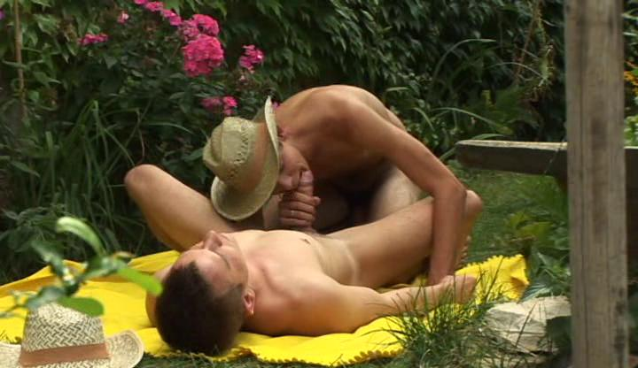 randy gay twink with cowboy hat gives his fucker
