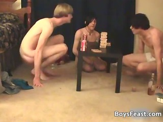 awesome super gay young having a game gathering
