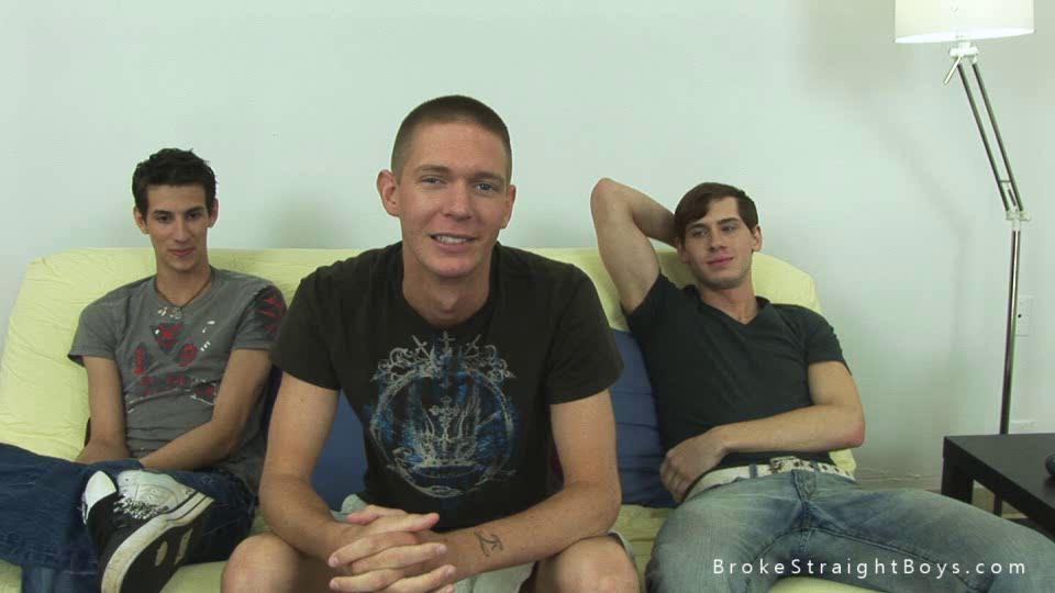 triple slutty studs talking about their gay