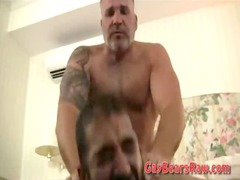 hairy bear bottom fist gang-banged