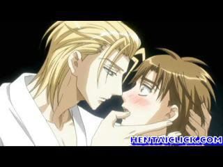 hentai gay super kissing and foreplay