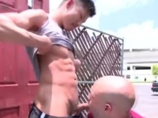eastern  gay into outside obtains fellatio