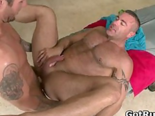 muscled hunk with tattoos gang-banging part1