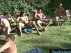 fellow licking big bunch of boys outside part6