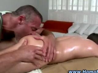 gay masseuse slowly turns straight butt