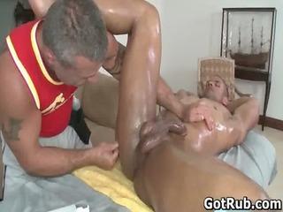hot dude obtain his shocking body massaged gay