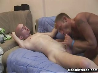 chubby white cream squirts and gay facials