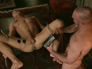 handsome gay fucker had tied up and bondaged