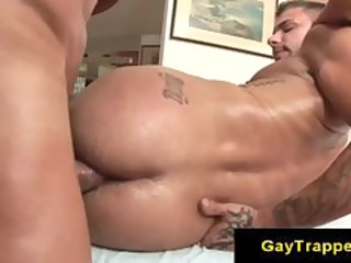muscle gay fuckers doing butt with some lube