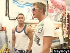al fresco gay cock sucking into grocery store